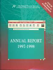 Annual Report 1997-1998 Samuel Neaman Institute