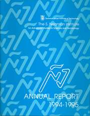 Annual Report 1994-1995 Samuel Neaman Institute