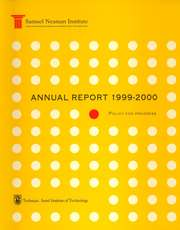 Annual Report 1999-2000 Samuel Neaman Institute