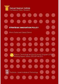 Strategic Innovation Policy (STE-WP-44)