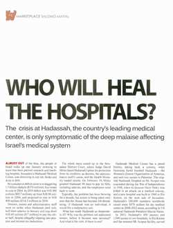 Who Will Heal the Hospitals?