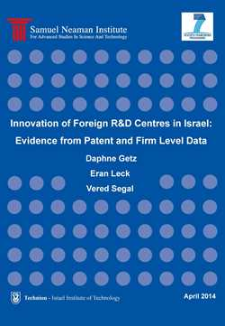 Innovation of Foreign R&D Centres in Israel: Evidence from Patent and Firm Level Data