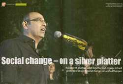 Social change on a silver platter