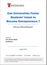 Can universities foster students' intent to become entrepreneurs?