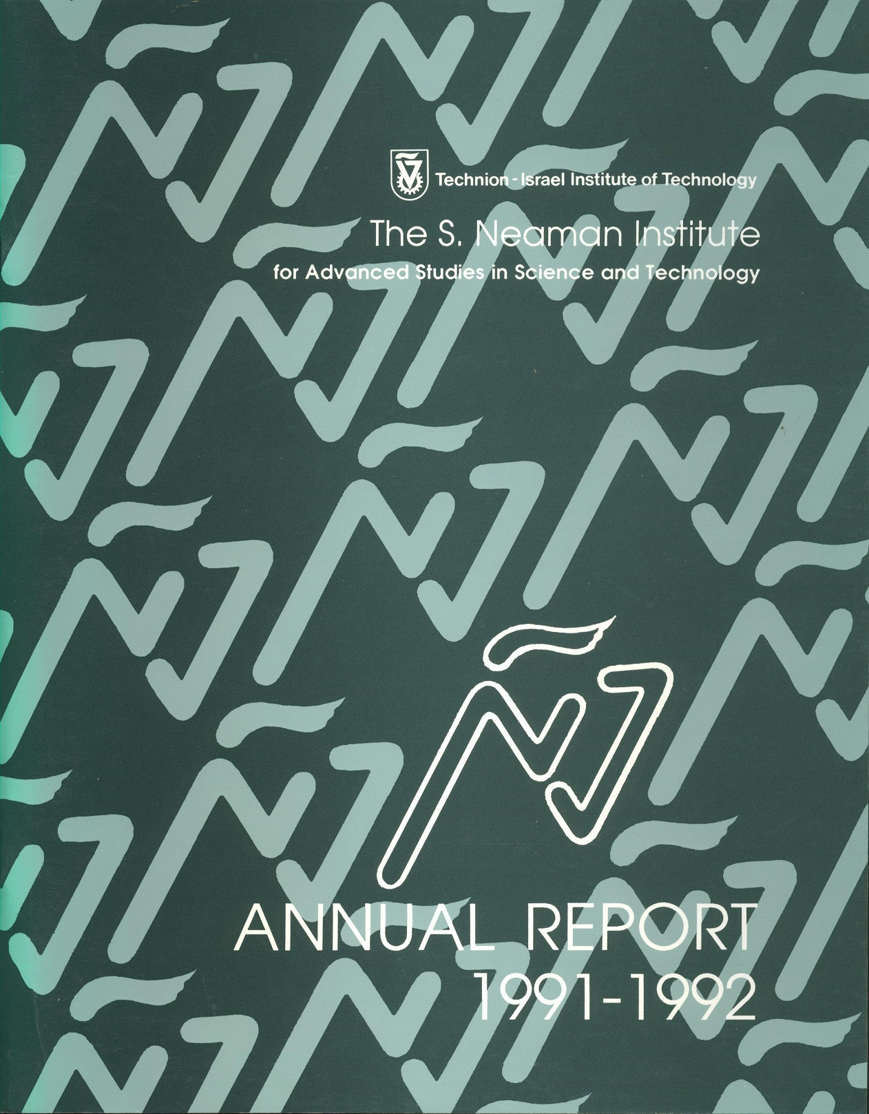 Annual Report 1991-1992 Samuel Neaman Institute