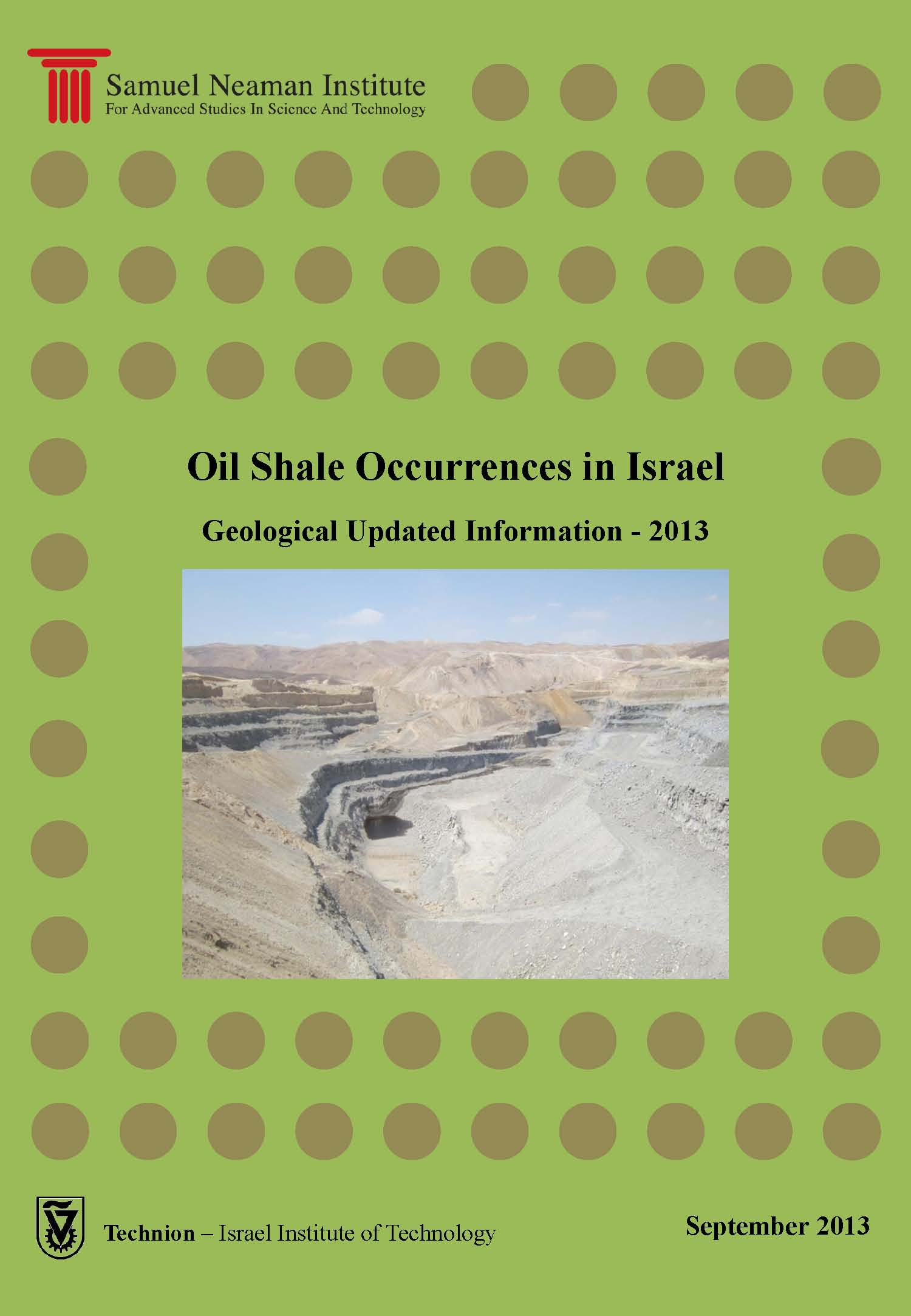 Oil Shale Occurrences in Israel - Geological Updated information