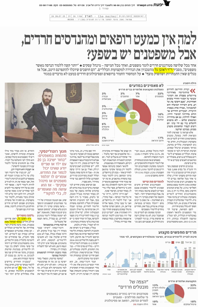 Why there are almost no Ultra-Orthodox doctors and engineers, but there are plenty of lawyers?