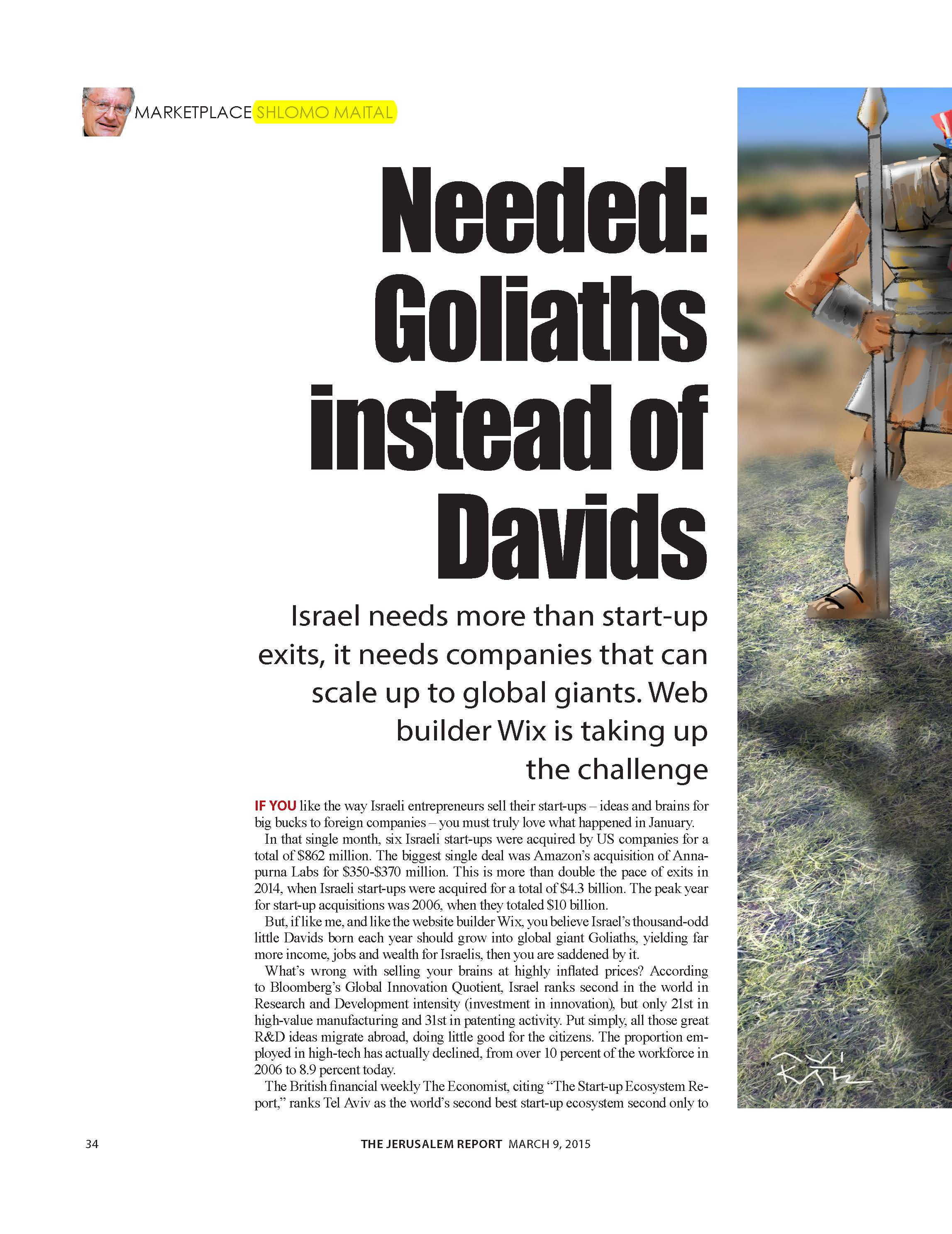 Needed: Goliaths instead of Davids