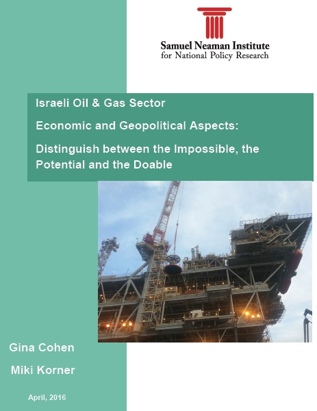 Israeli Oil and Gas Sector - Economic and Geopolitical Aspects
