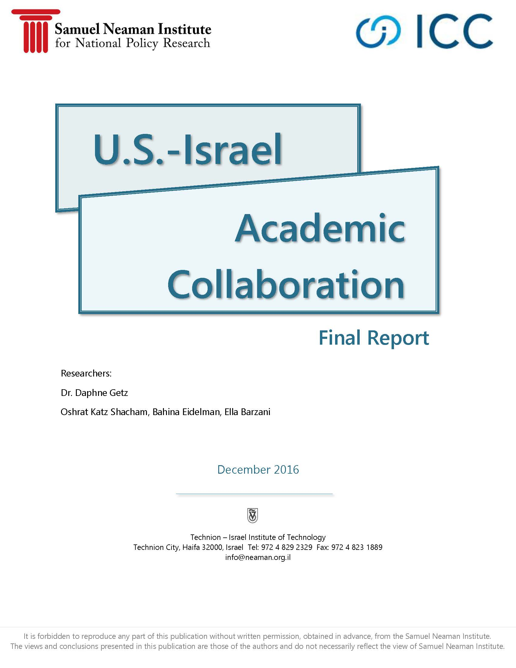 Israel-Us Academic Relations