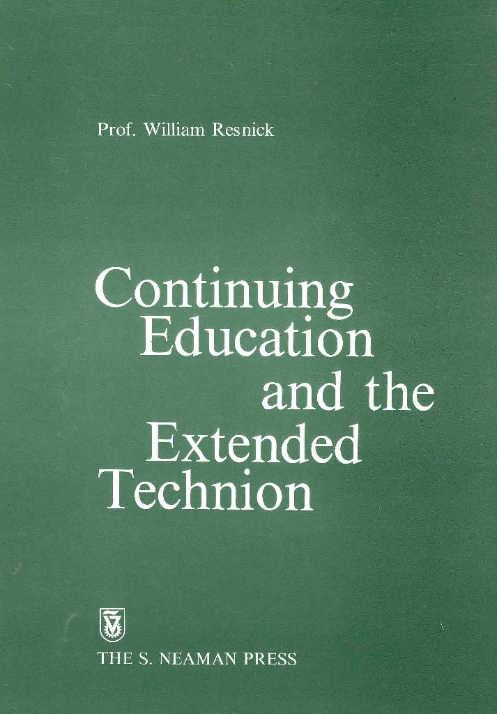 Continuing Education and the Extended Technion