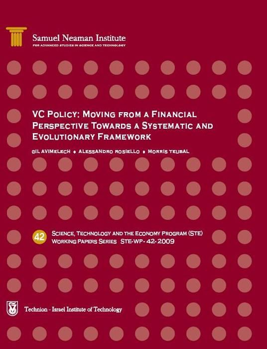 VC Policy: Moving from a Financial Perspective towards a Systemic and Evolutionary Framework (STE-WP-42)