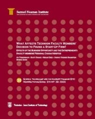 What Affects Technion Faculty Members