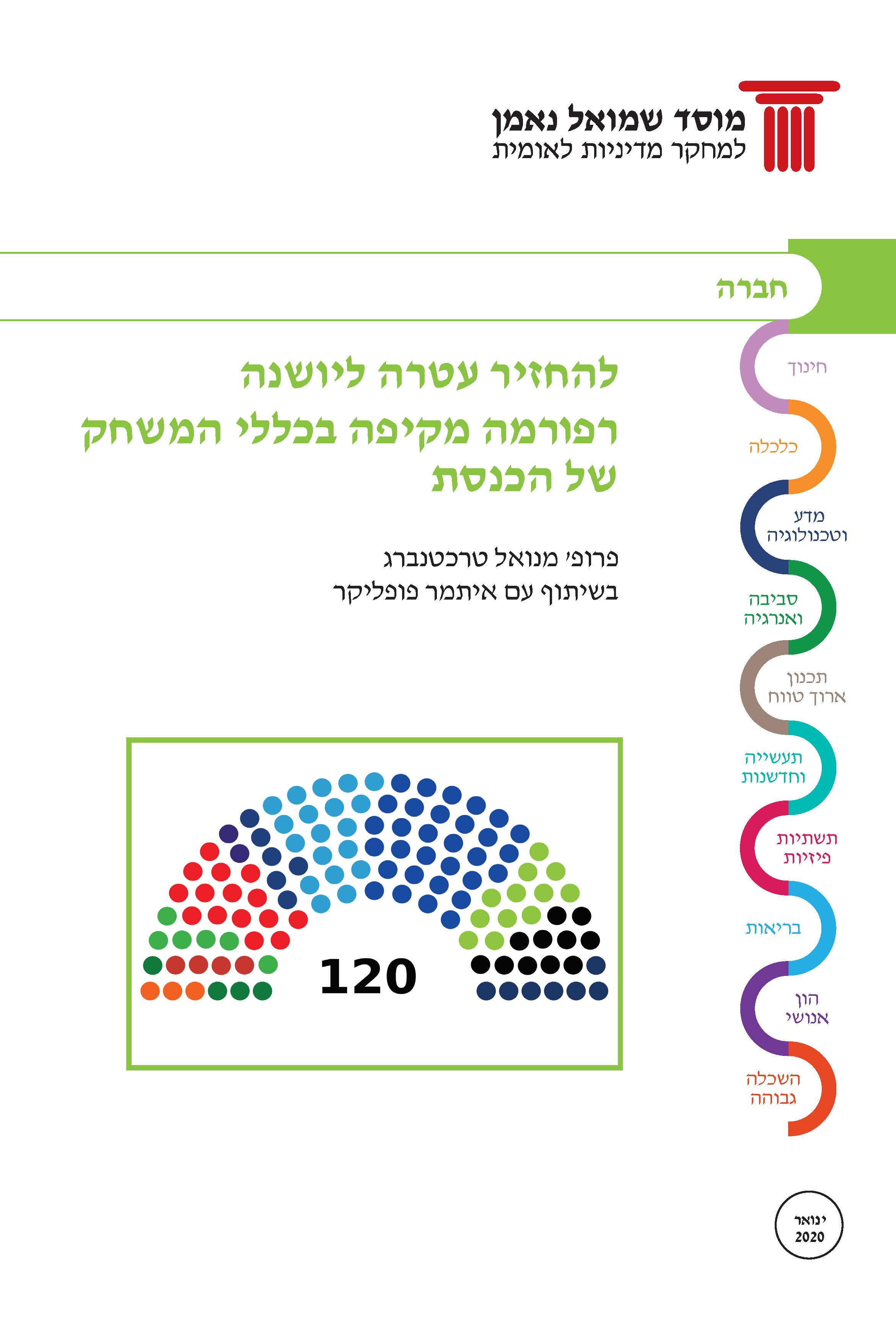 Back to its splendor – reforming the rules of the game of the Knesset