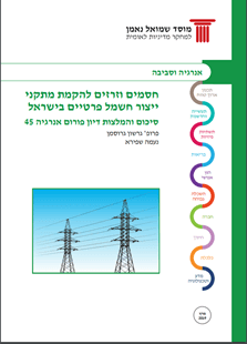 Energy Forum 45: Barriers to and incentives for constructing private electricity generation facilities in Israel